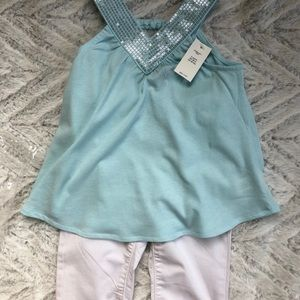 GAP Shirts & Tops - NWT GAP sequin tank top 3T